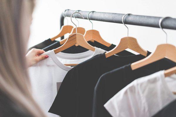 woman-choosing-t-shirts