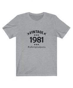 Vintage 1981 Birthday