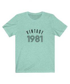 Personalize 1981 Vintage Birthday