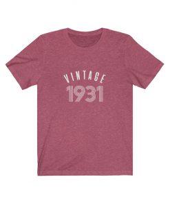 1931 Vintage Birthday Shirt