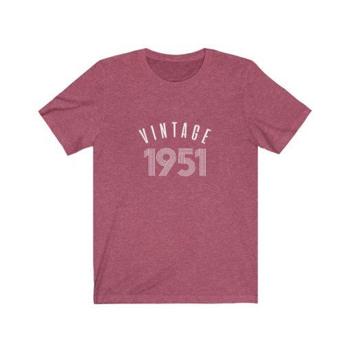 Personalize 1951 Vintage Birthday Shirt