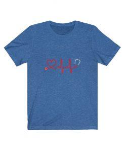 Stethoscope Heart Nurse T-shirt