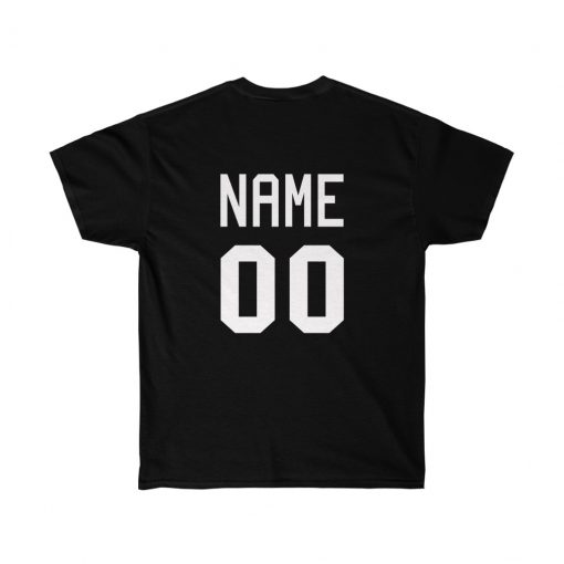 Personalized name and number shirt