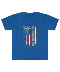 Vintage USA Best Nurse Dad Ever T-Shirt