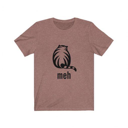 meh funny cat t-shirt